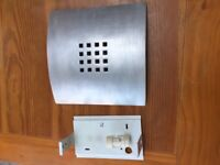 3 Silvered Plaster Wall Lights