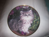 "Franklin Mint limited edition porcelain plate ""Purrfection"""