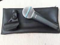 Microphone Shure Beta 58A plus microphone stand and cable