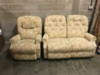 2 Seater Sofa + Chair Recliner Set