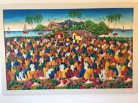 "Original Haitian Oil Painting, 59""by 39"",auction valuation £250 ,£350,I want £250 or near offer"
