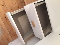 Habitat Tatsuma White 2 door; fully assembled, 1 year old; pick up from ground floor flat by client