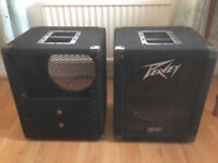 Pair of Peavey 1x12in speaker cabinets (no speakers inside)