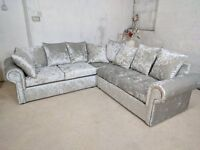 """BRAND NEW WARM AND COSY GLP CRUSH VELVET UNIT/3+2 ON SPECIAL OFFER """"EXPRESS DELIVERY"""""""