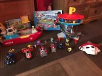 Large paw patrol bundle includes look out and sea patroller plus figures