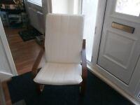 Lazy boy wooden chair
