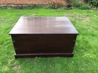 Large wooden chest / trunk for sale