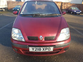 RENAULT MEGANE SCENIC DYNAMIQUE, RED, ** MOT MAY 2017**DRIVES LIKE NEW