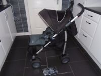 Chicco multiway lie flat umberella buggy with new raincover & footmuff part