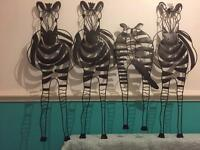 Zebra wall art