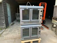 TWIN GAS FAN CONVECTION OVEN CATERING COMMERCIAL KITCHEN BAKERY FAST FOOD SHOP