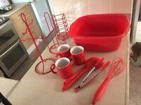 Red kitchen bits