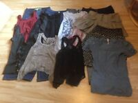 Job Lot of Alternative/EMO/Black Clothes (Jeans/Tops/Leggings/Skirts) Size 8-10. VG Condition.