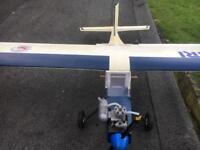 RC Nitro Colibri Plane.