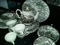 Traditional tableware set.