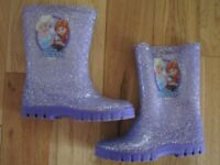 Size 8 Purple Frozen wellies