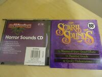 2 x CDS OF EERIE, HORRIBLE & SCARY SOUNDS