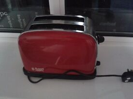 Russell Hobbs 23330 Colours Plus 2 Slice Toaster - Red - Bread Toaster