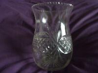 Cut glass celery type vase