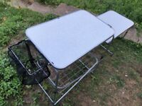 Portable Lightweight Camping Kitchen in original carry case - hardly ever used