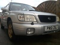Subaru forester s-turbo 2001 manual SF5 2.0 16v AWD turbo petrol low miles for year