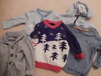 Bundle of baby boy's jumpers - age 6-9 months