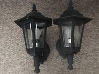 Pair of black outdoor lights
