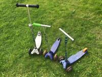 3 x micro scooters spares or repair
