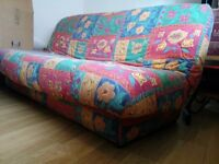 Sofa Bed/Futon with storage space underneath