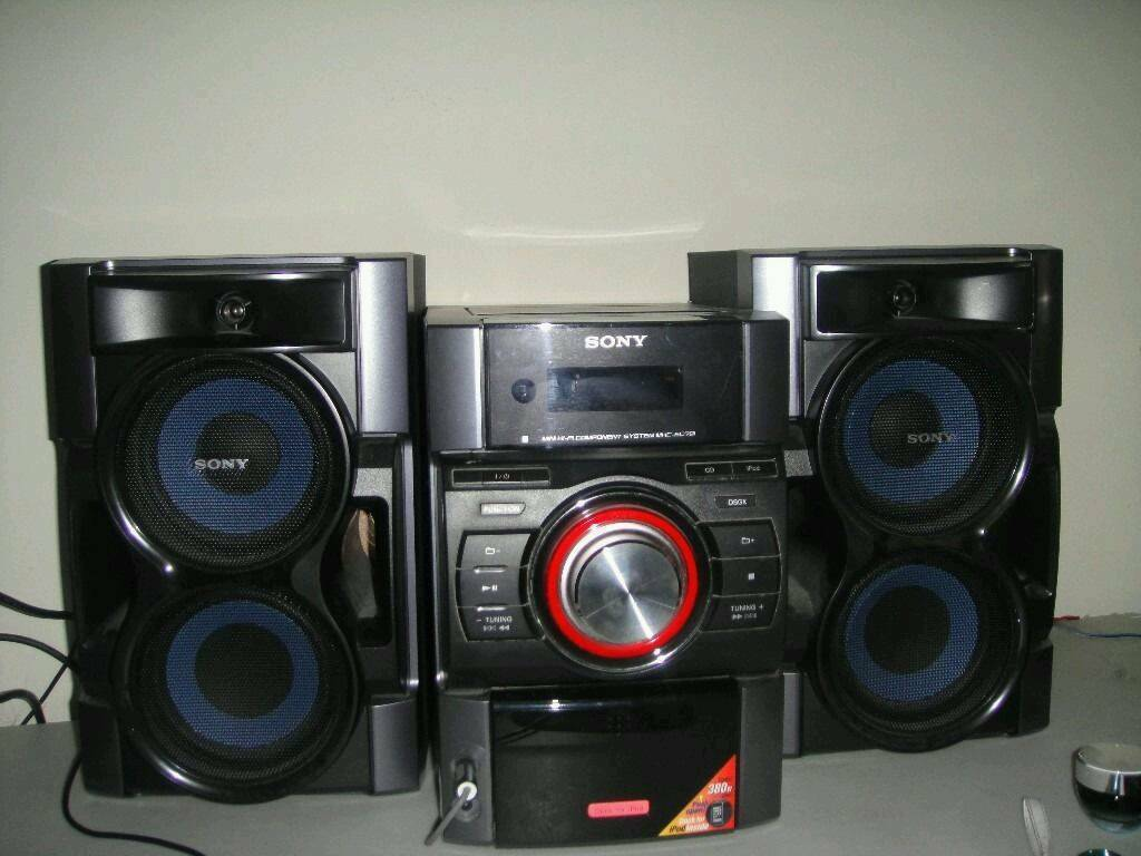 sony sound system in torquay devon gumtree. Black Bedroom Furniture Sets. Home Design Ideas