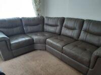 Lovely leather corner sofa
