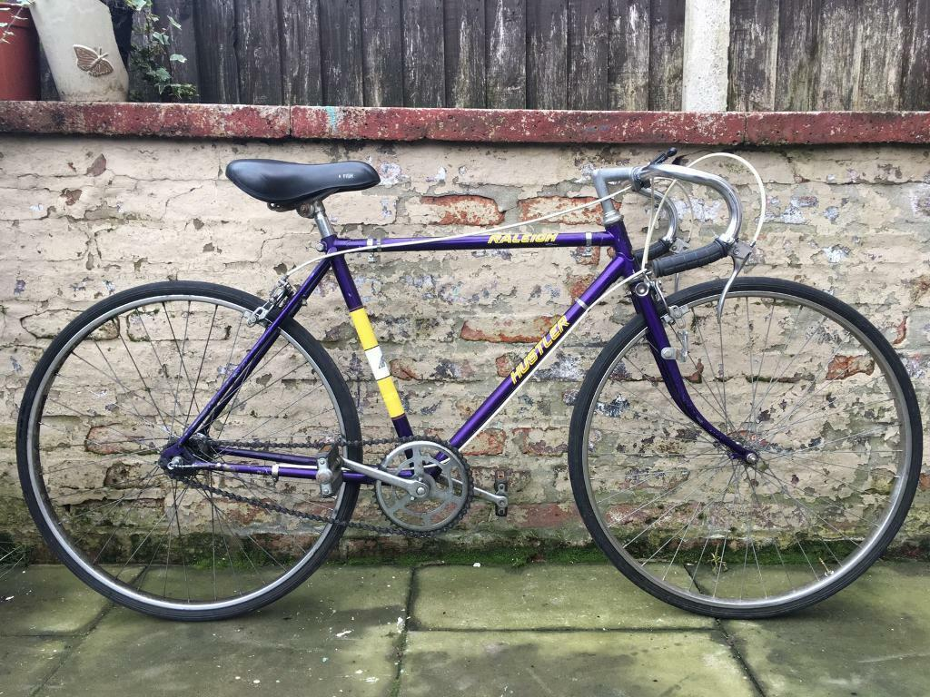 Raleigh Hustler Mens Vintage Retro Road Bike 18 Inch Frame