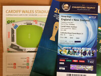 One ICC Cricket ticket: England vs New Zealand, Cardiff June 6th