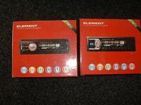 2 brand new car radio.s in the box non cd / mp3 usb ipod aux fm radio remote control