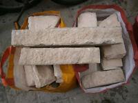 Quantity of decorative stone blocks free to collector