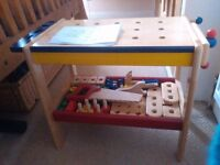pintoy wooden workbench, complete with instructions