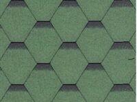 12 packs Hexagonal green roofing shingles