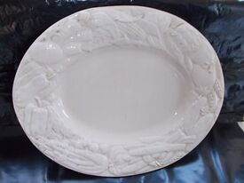 Large serving plate.