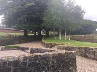 Gardener at a serene country estate on Dartmoor