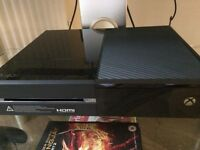 **XBOX ONE**, With 3 games, 12 months xbox live gold worth £35, Head set, 1x wireless controller