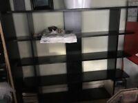 Habitat black ash bookcase/room divider/storage unit VERY STURDY & WELL MADE