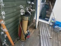 set of mixed golf-clubs in carry bag with golf-ball,s !!