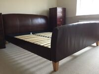 Super king size leather bed made by M&S, excellent condition, collection needed