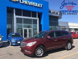 2017 Buick Enclave Leather AWD ROOF HEATED STEERING WHEEL!!!