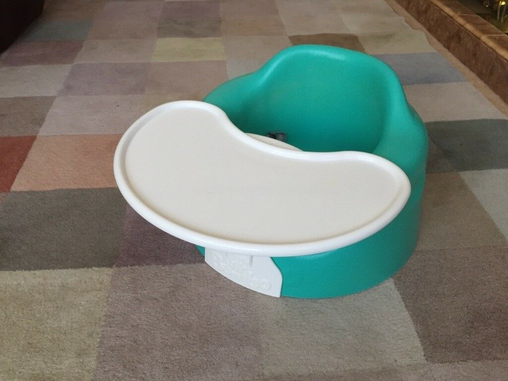 Bumbo Child Seat with Play Tray As New in Aqua