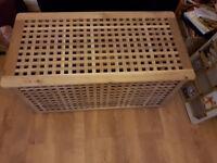 IKEA Ottoman - Wooden Storage Box.