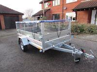 CAR TRAILER ONE AXLE TRAILER 750 kg + MESH