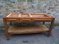 Kitchen island/table/work bench, solid wood