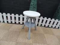SOLID PINE STOOL PAINTED WITH LAURA ASHLEY PARIS GREY AND PALE DOVE