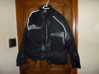 hein gericke leather and textile goretex jacket